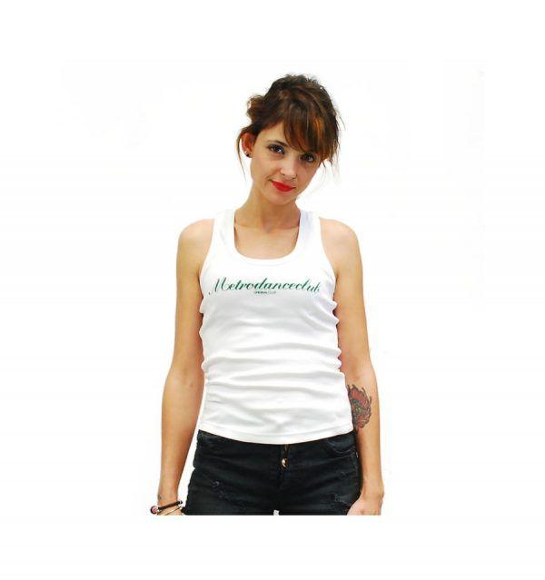 Camiseta Chica - Metrodanceclub Tight White