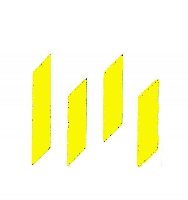 Pegatina - Logo M Metro 30 x 30 cm Amarillo